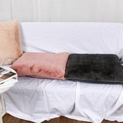 솔리드 극세사 양면 지퍼 쿠션 방석 커버