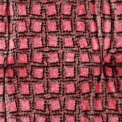 믹스 패턴 일체형 사각 방석