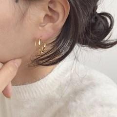 리아 링 귀걸이 (2colors)