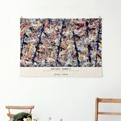 패브릭 천 포스터 추상화 유화 그림 액자 잭슨 폴락 8