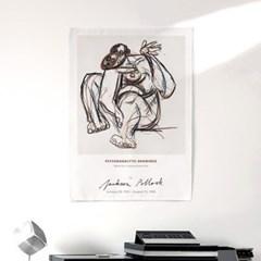 패브릭 포스터 추상화 명화 드로잉 그림 액자 잭슨 폴락 6