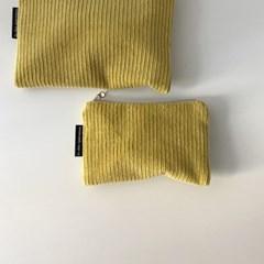 라임 골덴 파우치(Lime corduroy pouch)