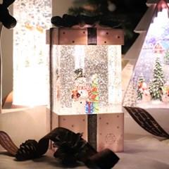 [반짝조명] 20112 선물상자 워터볼 오르골