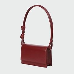 brick rope bag _ burgundy