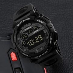 남성 디지털 HONHX Black 스포츠 손목시계 62X-66F