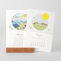 (2021 날짜형) 2021 계절을 들여다보는 캘린더 - 풍경