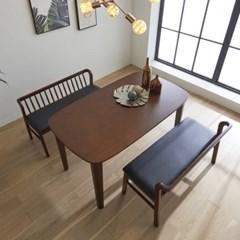 핀치 원목 4인 식탁세트 벤치형 2colors