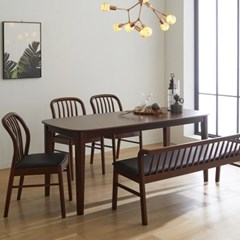 핀치 원목 6인 식탁세트 540 의자벤치형 2colors