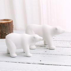 북극곰 화이트 세라믹 오브제 (2마리세트)