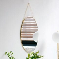 골드 프레임 원형 벽거울