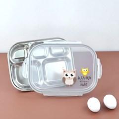 애니멀 스텐 식판도시락(부엉이)