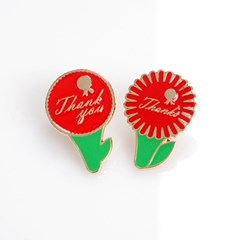 Cheese Carnation Brooch - Thanks