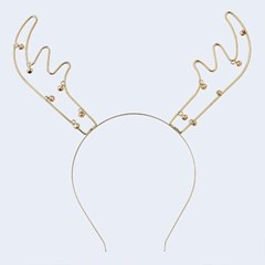 [빛나파티]루돌프 골드 메탈릭 머리띠 Reindeer Antlers Metal Chris