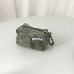 골덴 민트 네모 파우치(Corduroy Mint oblong pouch)