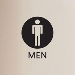 동그라미 men women 남자 여자 구분 화장실 탈의실 스티커