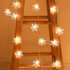 눈꽃송이 LED 전구 50구 건전지 포함 감성캠핑 크리스마스 조명