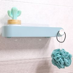 접착식 무타공 파스텔 욕실선반 다용도선반 4컬러_(1728771)