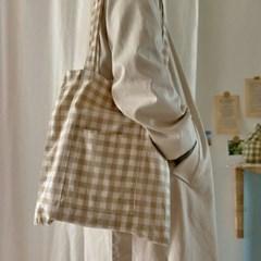Check pocket bag_milk tea