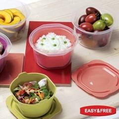 스팀쿡 전자렌지용 밥그릇 12개 세트 냉동고정리함 밥소분용기