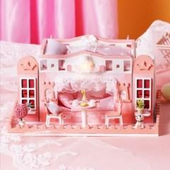 DIY 미니어처 하우스 - 핑크 2층 침대_(1495757)