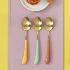 몽블랑 스완 골드 커트러리 11color - 아동용 스푼