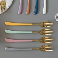 몽블랑 스완 골드 커트러리 11color - 디너포크