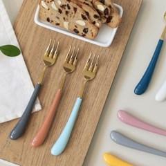 몽블랑 스완 골드 커트러리 11color - 케익포크