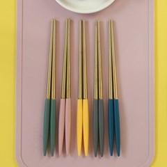 몽블랑 스완 골드 커트러리 11color - 키즈 젓가락