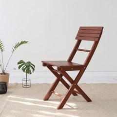 원목 접이식 카페테이블&의자 세트_디자인01 베이직 브라우니