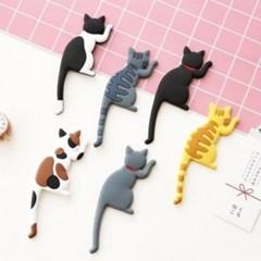 파베르 고양이후크 냉장고자석