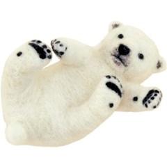 하마나카 양모펠트 아기 북극곰 DIY