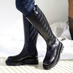 kami et muse Chelsea style platform long boots_KM20w156