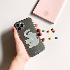 코끼리 Elephant 투명젤리케이스_Clear Jelly Case