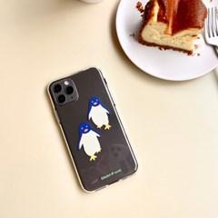 펭귄 Penguin 투명젤리케이스_Clear Jelly Case