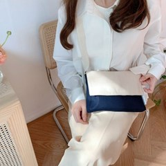 soft square mini bag (navy)