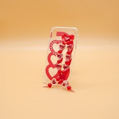 SUN CASE HEART BUBBLE RED
