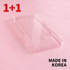 [국내생산1+1행사]아이폰12시리즈 클리어 젤하드 케이스