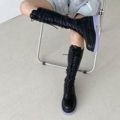 kami et muse Platform lace up long boots_KM20w157