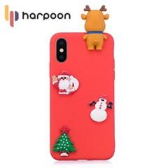 하푼 아이폰5 5S SE 크리스마스 3D패치 메리케이스