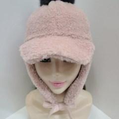 폭스 털 방울 방한 베이지 블랙 데일리 패션 모자