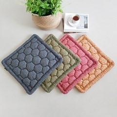 플로랄 패턴 사각 방석 4color