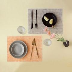 TAVOLA 실리콘 식탁매트 (린넨 직사각 10종)