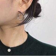 노트 원터치 링 귀걸이 (2colors)