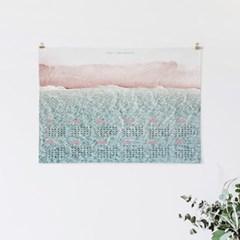2021 패브릭 천 벽걸이 한장 달력 인테리어 포스터 모음