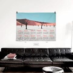 2021 패브릭 천 달력 포스터 사막 풍경 사진 Deadvlei
