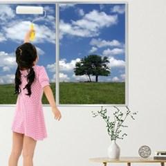 가정용 사무실 창문 겨울 단열 방한 바르는 뽁뽁이