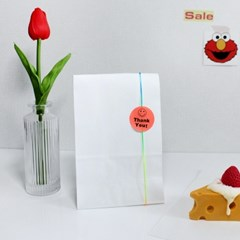 화이트 구디백 페이퍼백 2size 어린이집 유치원 답례품 포장 봉투
