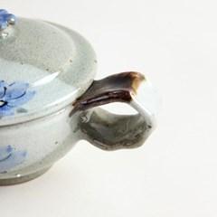 분청 들꽃 합 쌍화차잔 대추 생강 한방차잔 2color