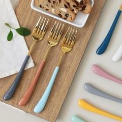 몽블랑 스완 골드 커트러리 11color - 샐러드포크