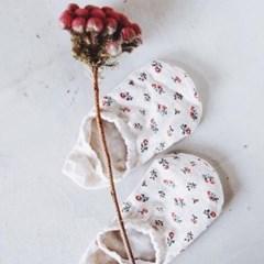 플라워 꽃무늬 페이크삭스 벗겨짐방지 덧신 발목 양말